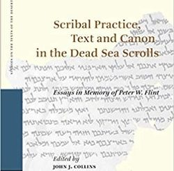 Scribal Practice, Text and Canon in the Dead Sea Scrolls; Essays in Memory of Peter W. Flint