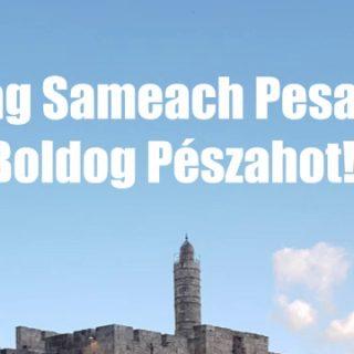 Chag Sameach Pesach! - Boldog Pészahot!