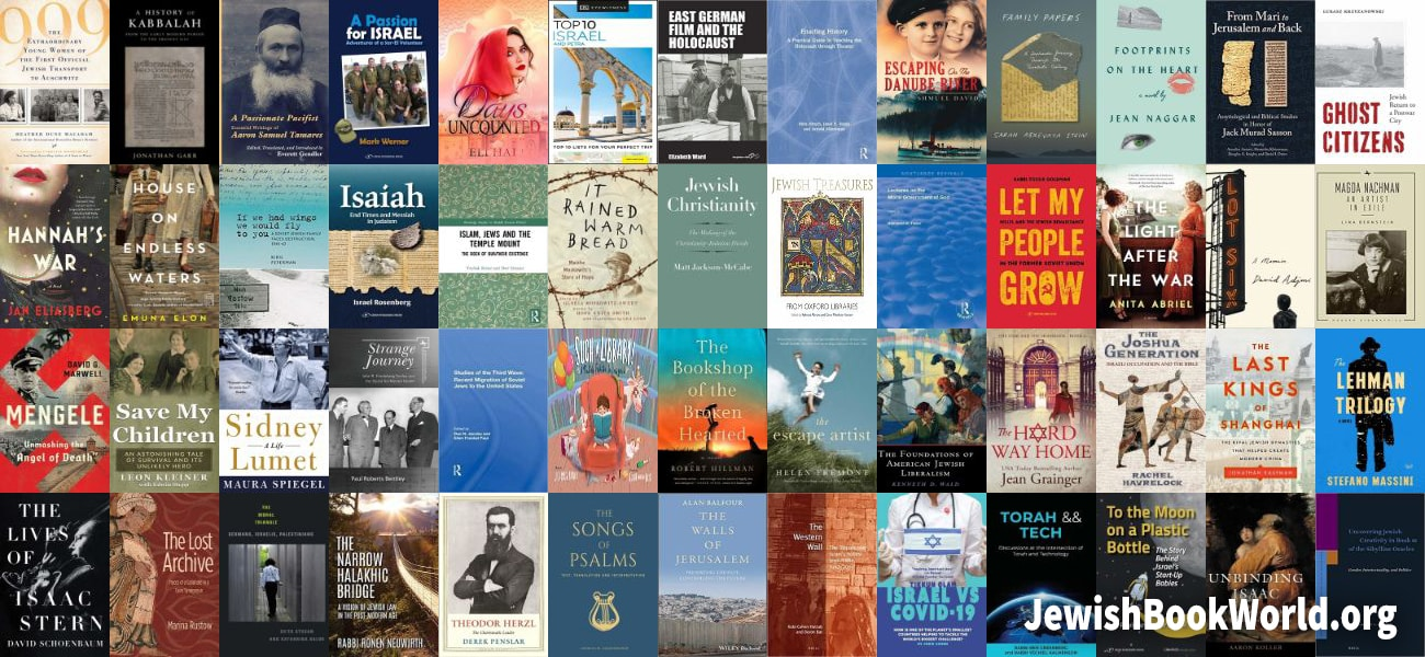 Covers for some of the 52 books posted on JewishBookWorld.org in June 2020